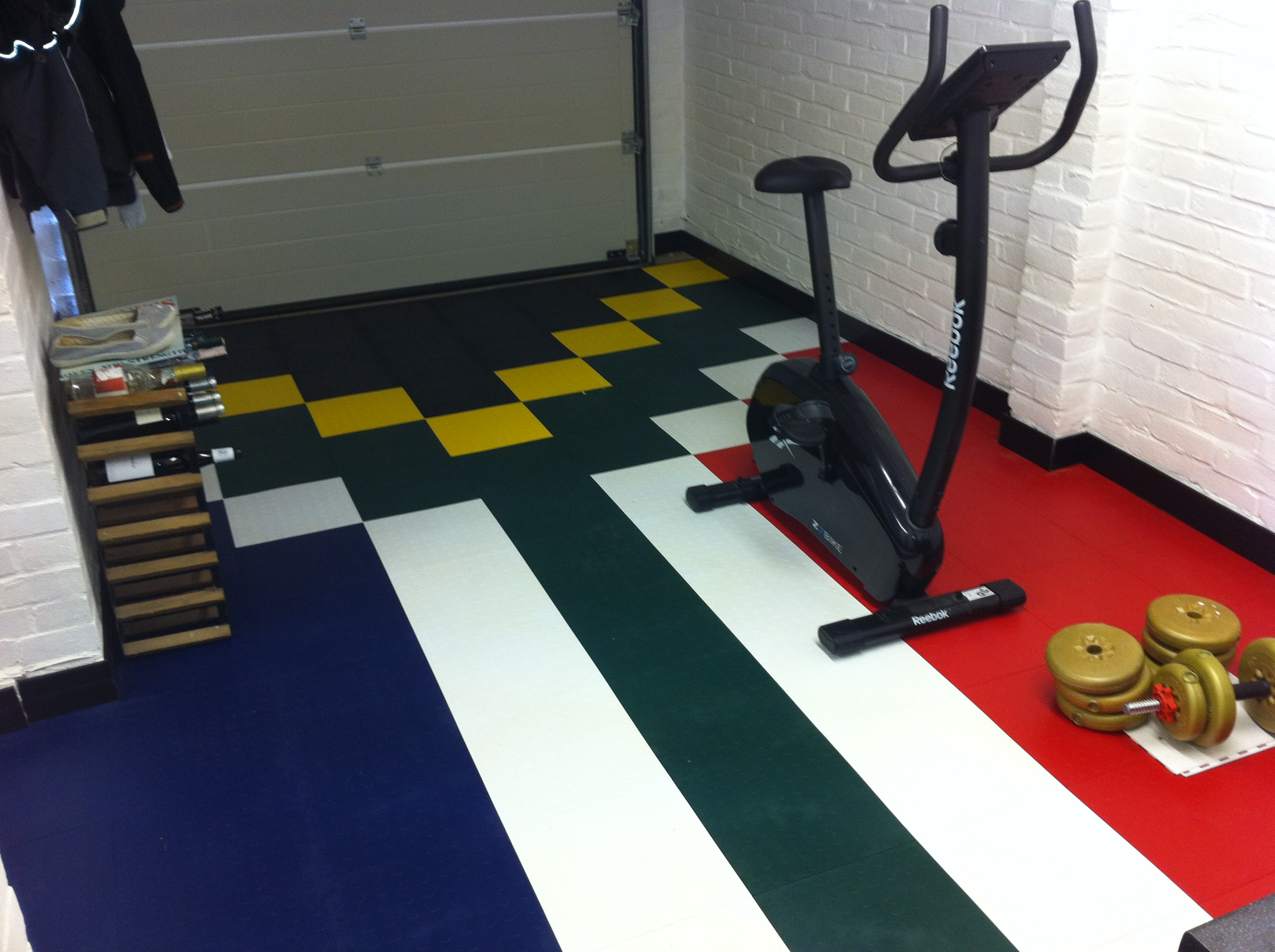 Combined gym flooring and garage project