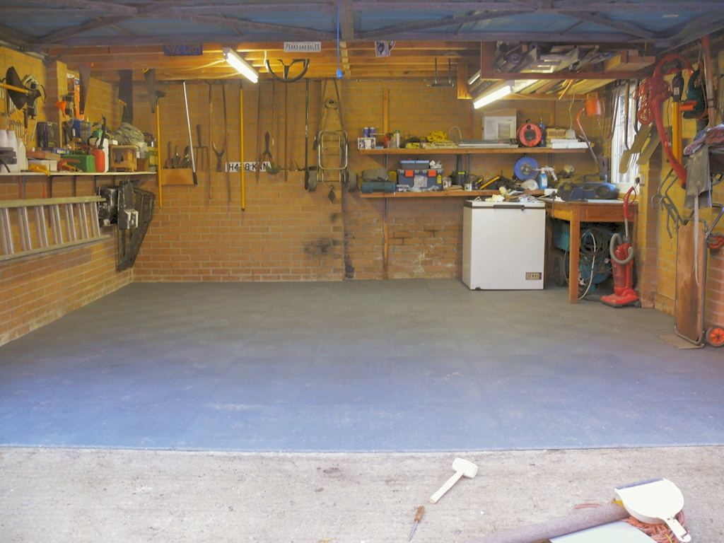 Garage floor makeover image