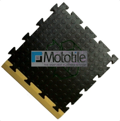 Recycled PVC interlocking floor tile from Mototile.