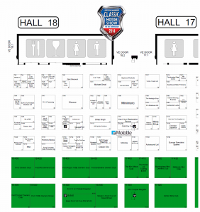 Location of Mototile trade stand at Classic Motor Show 2014, NEC