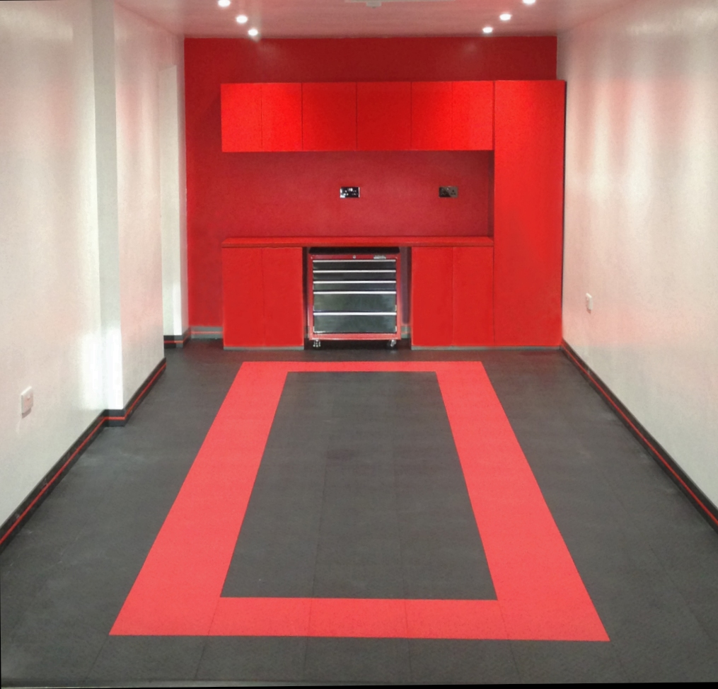 Red and Black Flooring