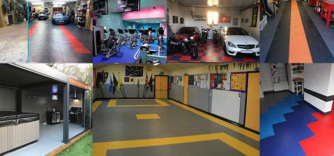 Customer photographs using mototile floor tiles